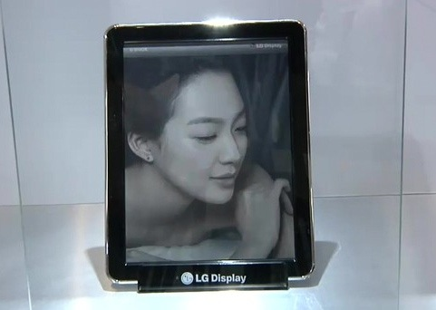 LG показала двухкомпонентный дисплей на базе электронной бумаги